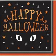 16 Tovagliolini - Occhi di Gatto Halloween