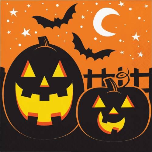 16 Tovaglioli - Halloween Colors