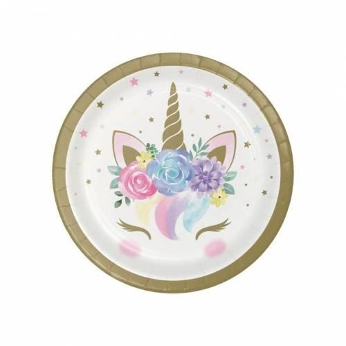 8 Piattini Unicorn Baby