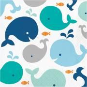 16 Tovaglioli Balena Blu