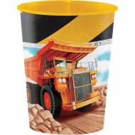 Bicchiere Construction (Tema Edile) formato grande (47 cl) - Plastica