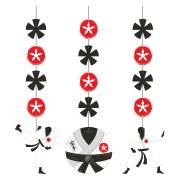 3 Decorazioni da appendere Karate Party