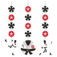 Contiene : 1 x 3 Decorazioni da appendere Karate Party