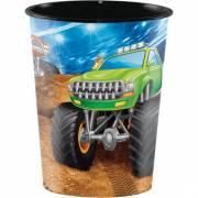 Bicchiere Monster Truck Rally formato grande (47 cl) - Plastica