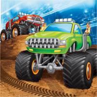 Contiene : 1 x 16 Tovaglioli Monster Truck Rally