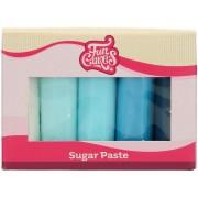 FunCakes Pasta da zucchero Multipack Gradazioni di Blu - 5 x 100 g