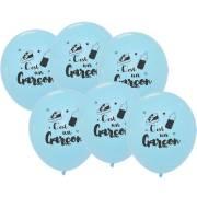 6 Palloncini Blu - È maschio 30 cm