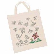 Borsa grande e personalizzabile Pre-stampato Butterfly Bag grande e personalizzabile
