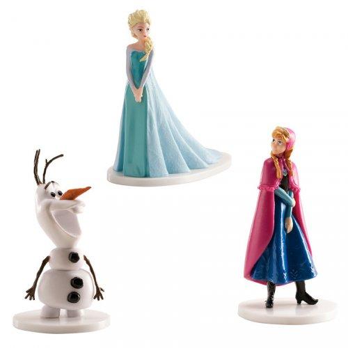 "Set di statuette Elsa, Anna, Olaf ""Frozen"""