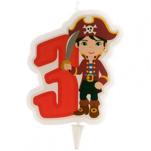 Candela dei pirati 3 anni