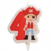 Candela dei pirati 4 anni