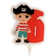 Candela dei pirati 6 anni