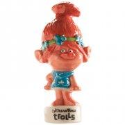 "Statuette Poppy rosa ""Trolls"" (6.5 cm) - Porcellana"