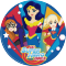Disco di zucchero Super Hero Girls (20 cm) images:#0