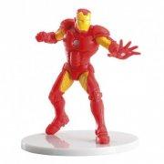 1 figura di Iron Man su base (8 cm) - PVC