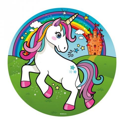 Piccolo disco Unicorno Magico (16 cm) - Zucchero