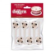 6 Stecchini con palloni da calcio - Plastica