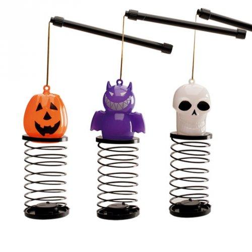 1 Lanterna lampeggiante di Halloween con caramelle
