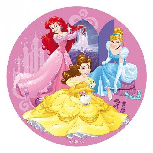 Disco in pasta azzima - Principesse Cenerentola/Ariel/Belle (20 cm)