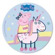 Disco in pasta azzima - Unicorno e Peppa Pig (20 cm)