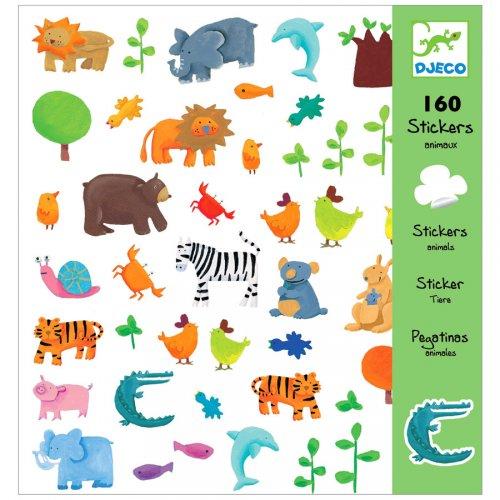 160 Adesivi animali