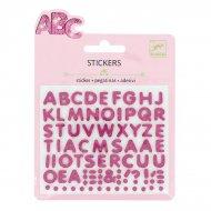 Mini adesivi Lettere glitter Lettere glitter Rilievo