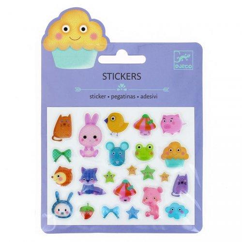 Mini adesivi Animali Kawaï 2D Relief Animali Kawaï