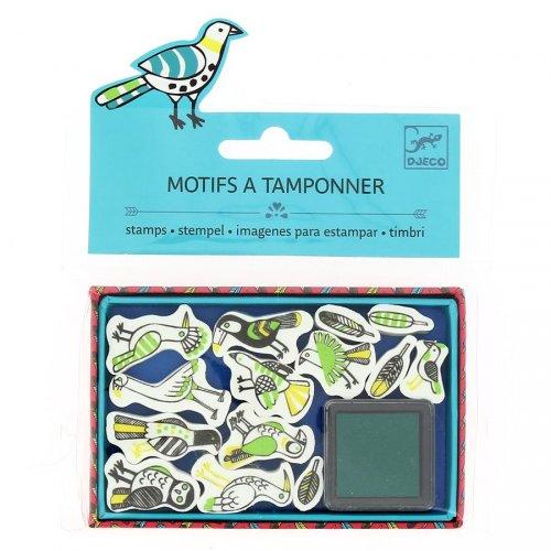 Mini Bird Stamps + Inchiostro Verde Scuro