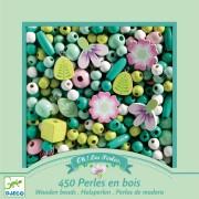 450 Perline di Legno - Foglie e Fiori