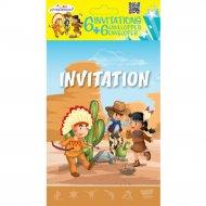 6 Inviti Indiani e Cowboy