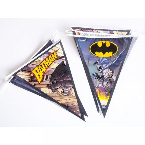 Ghirlanda bandierine Batman Comics (2,70 m)