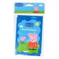 6 Inviti Peppa Pig
