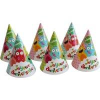 Contiene : 1 x 6 Cappelli Buon Compleanno Mostri