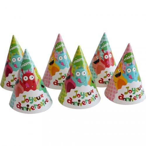 6 Cappelli Buon Compleanno Mostri
