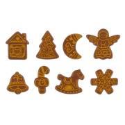 8 Decorazioni mercatino di Natale (3,5 cm) - Cioccolato al latte