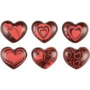 6 Cuori 3D - Cioccolato