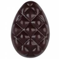 1 Mezzo uovo di Pasqua Decorato con Rombi in Rilievo (3,7 cm) - Cioccolato Fondente