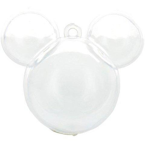 3 scatole Testa di topo da riempire (6 cm) - Plastica trasparente