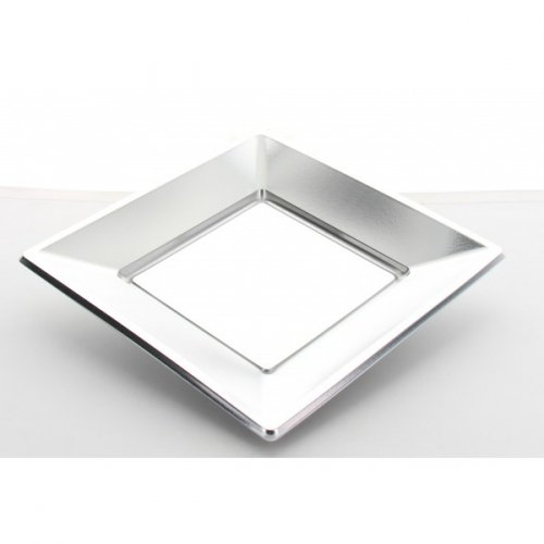 8 Piatti quadrati Argento (23 cm)