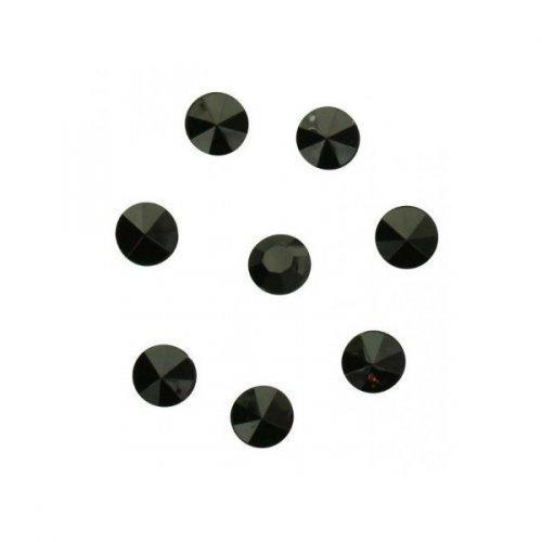 100 Coriandoli diamanti neri (1 cm) - Plastica