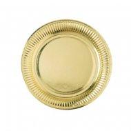8 Piatti Oro specchio