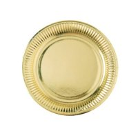 Contiene : 1 x 8 Piatti Oro specchio