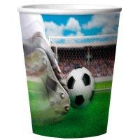 Contiene : 2 x 4 Bicchieri 3D Stadio di Calcio in Melammina