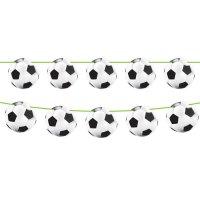 Contiene : 1 x Ghirlanda bandierine palloni stadio calcio