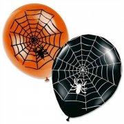 Lotto di 8 palloncini Halloween Ragno