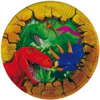 Contiene : 1 x 6 Piattini Dinosauro