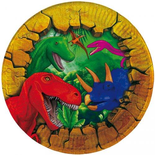 6 Piattini Dinosauro