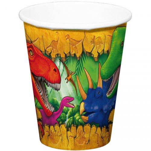 6 Bicchieri Dinosauro
