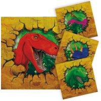 Contiene : 1 x 16 Tovaglioli Dinosauro