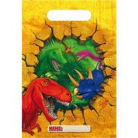 Contiene : 1 x 6 Sacchetti regalo Dinosauro